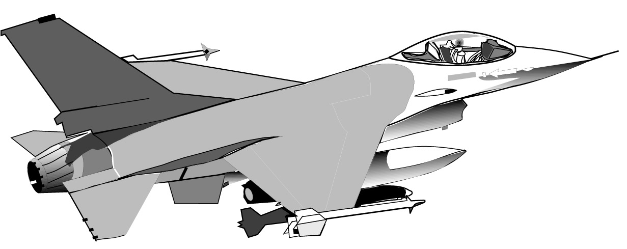 Cartoon Fighter Jet Clipart