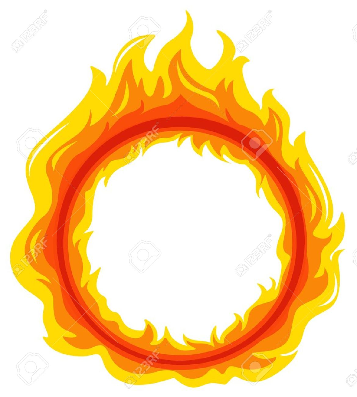 Cartoon Fire Background