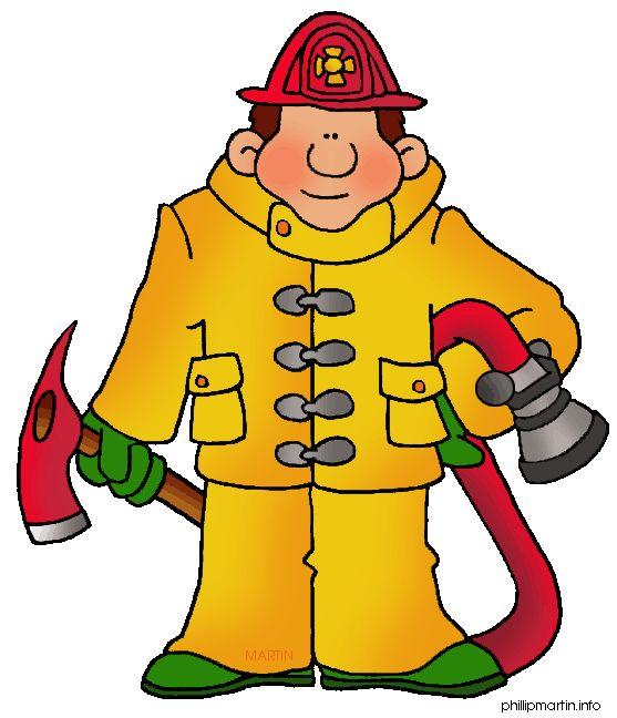Cartoon Firefighter