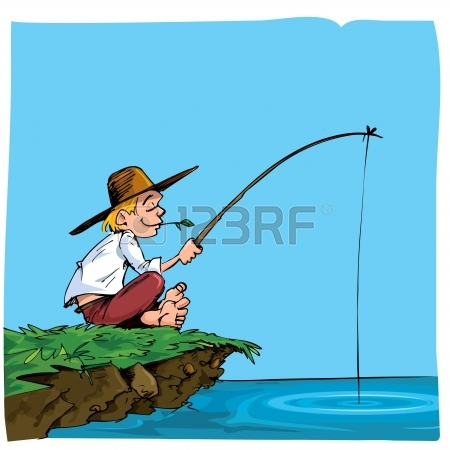 Cartoon Fishing Pole