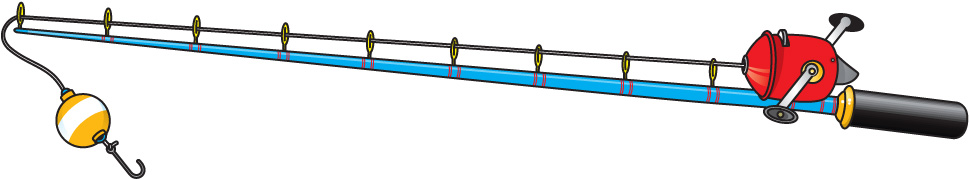 969x179 Clipart Fishing Rod