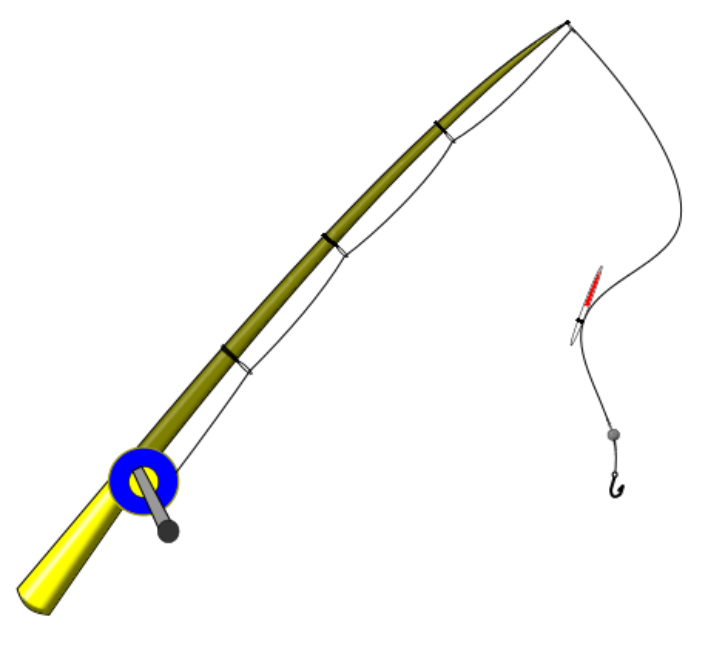 2400x2254 Fishing Pole Clipart Fishing Rod Image 2