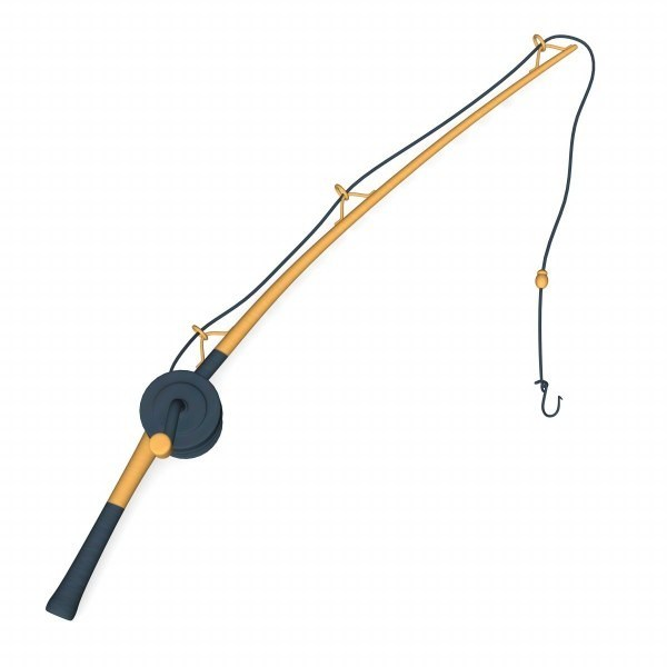 600x600 Cartoon Fishing Pole