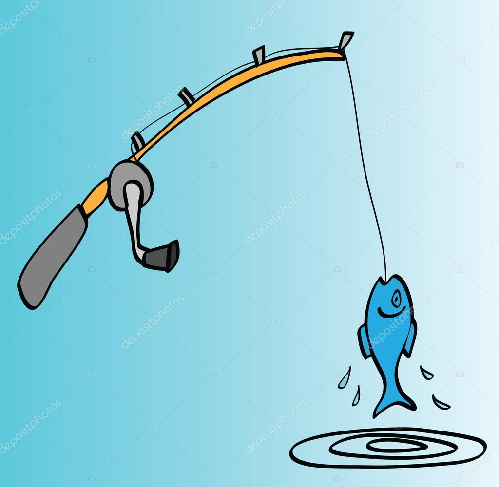 1024x1000 Cartoon Fishing Rod Stock Photo Dusan964