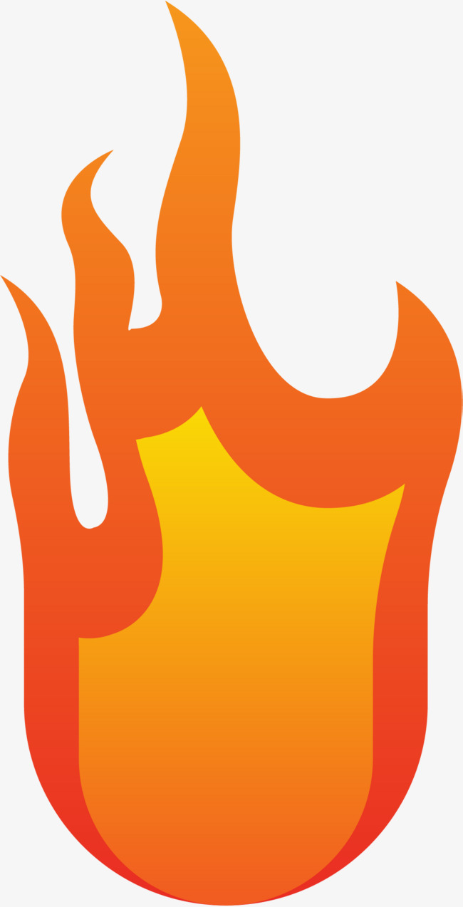 650x1273 Cartoon Flame, Flame, Yellow, Combustion Flame Png And Vector