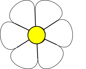 297x237 White Daisy 1 Clip Art
