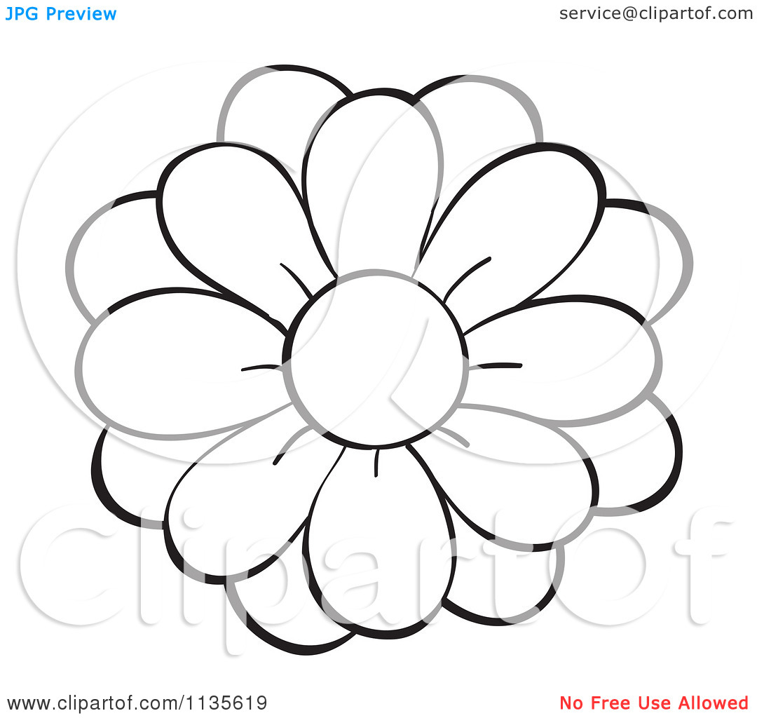 1080x1024 Clip Art Flower Black And White Clipart Panda