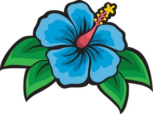 300x225 Tropical Flowers Clipart Image
