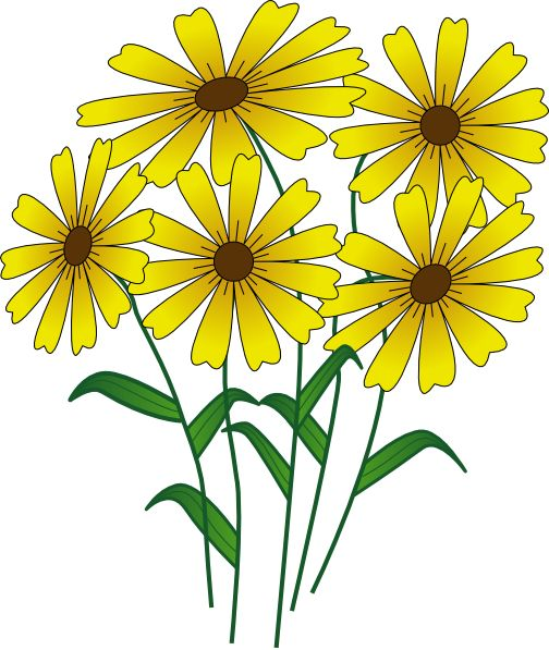 Cartoon Flowers Images Clipart