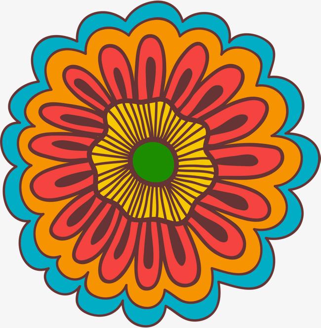 650x664 Yellow Cartoon Flowers, Yellow Flower, Simple Plant, Decorative
