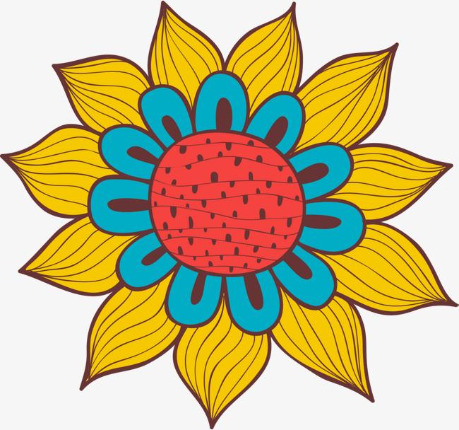 650x608 Yellow Cartoon Flowers, Yellow Flower, Simple Plant, Fresh Flowers