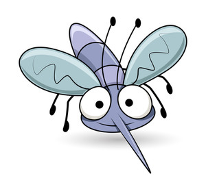 300x273 Cartoon Mouth Fly Attack Vector Royalty Free Stock Image