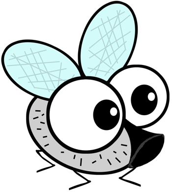 350x390 How To Draw Cartoon Flies With A Fly Drawing Tutorial