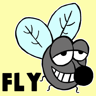 400x400 How To Draw A Cartoon Fly With Simple Shapes