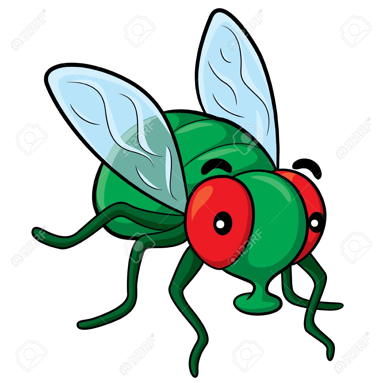 1300x1300 Illustration Of Cute Cartoon Fly. Royalty Free Cliparts, Vectors