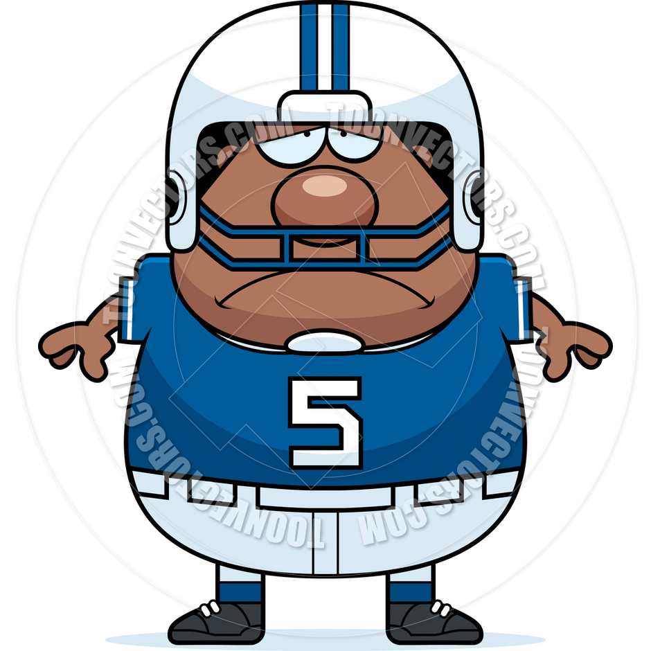 940x940 Cartoon Football Player Man Sad By Cory Thoman Toon Vectors Eps