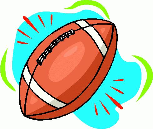 490x414 Cartoon Football Clipart