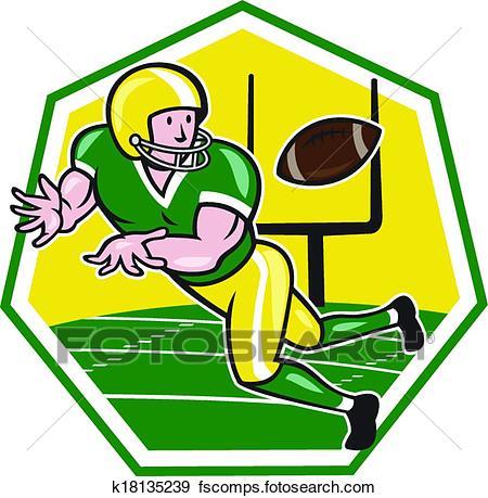 450x459 Clip Art Of American Football Wide Receiver Catching Ball Cartoon