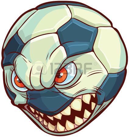 424x450 Cartoon Clip Art Illustration Of A Soccer Ball Or Football