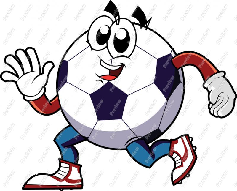 800x643 Soccer Ball Character Clip Art