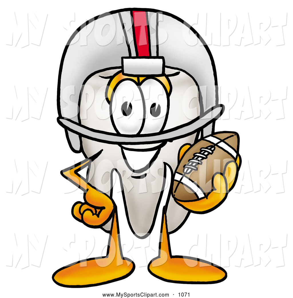 1024x1044 Sports Cliprt Of Friendly Tooth Mascot Cartoon Character In