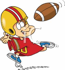 276x300 Cartoon Football Clipart