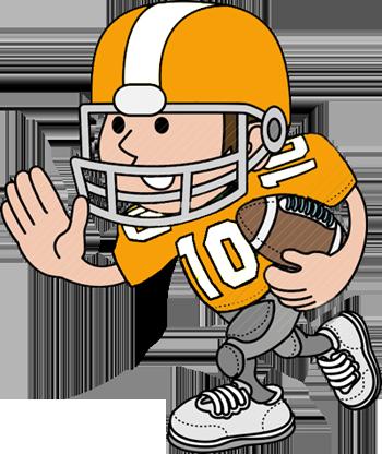 350x416 Cartoon Football Player Clipart