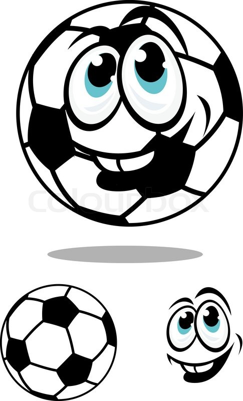485x800 Cartoon Soccer Or Football Ball Character With A Happy Smile