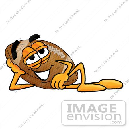 450x450 Clip Art Graphic Of A Football Cartoon Character Resting His Head