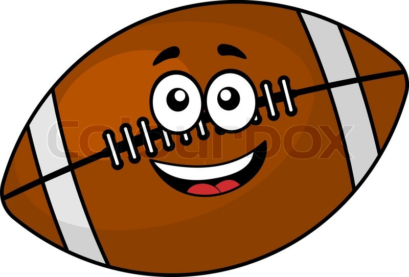 800x542 Fun Happy Brown Leather Football Or Rugby Ball With A Cute Smiling