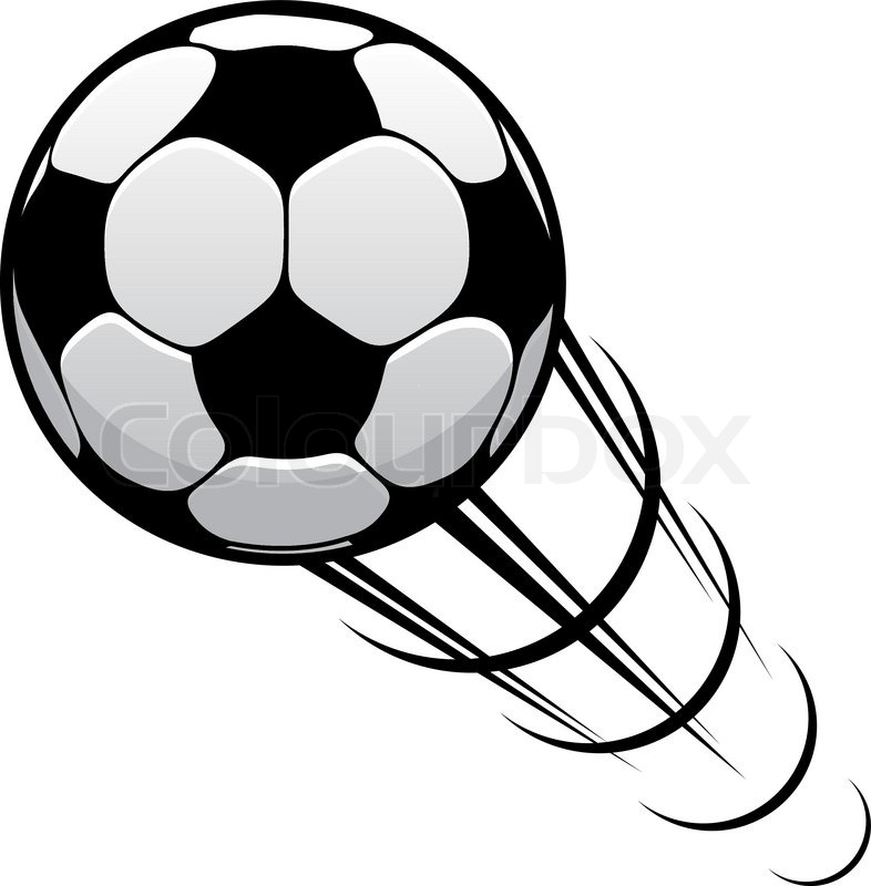 786x800 Happy Cartoon Soccer Ball Or Football Character In Black And White