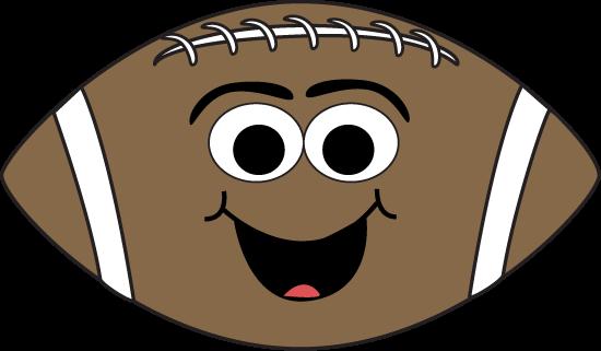 550x321 Cartoon Face Football Clip Art