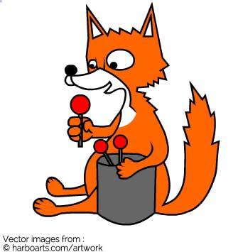 335x355 Download Cartoon Funny Fox