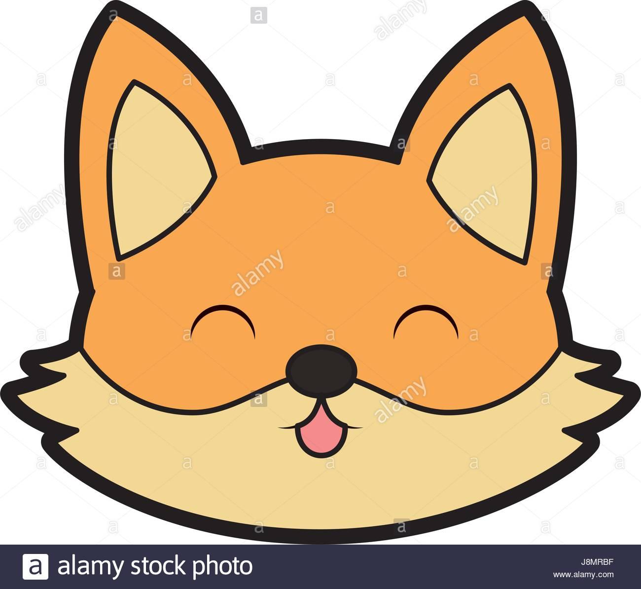 1300x1194 Cute Fox Face Cartoon Stock Vector Art Amp Illustration, Vector