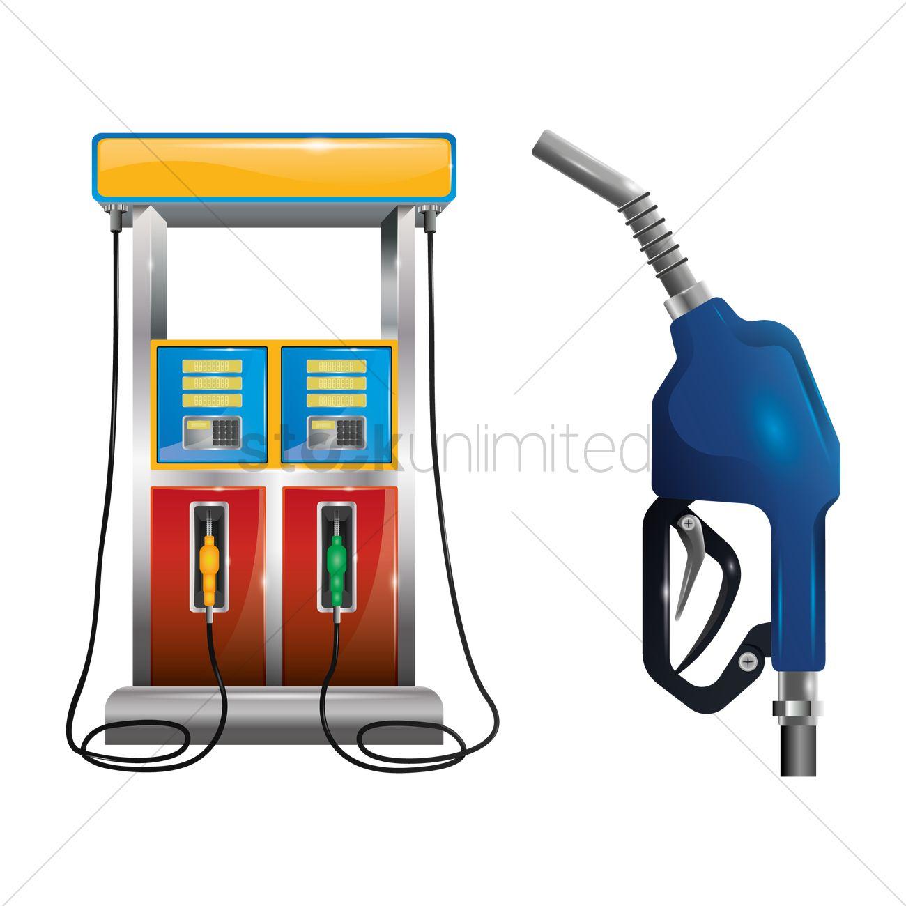 1300x1300 Gas Pump And Petrol Nozzle Vector Image