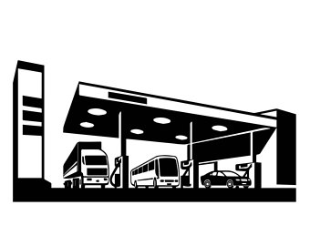 340x270 Gas Station Clipart Etsy