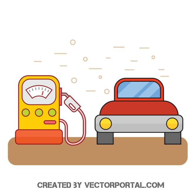 660x660 Gas Station Vector Image