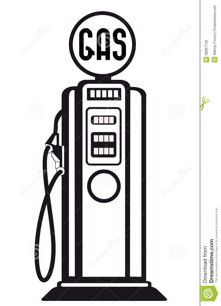 937x1300 Retro Clipart Gas Pump