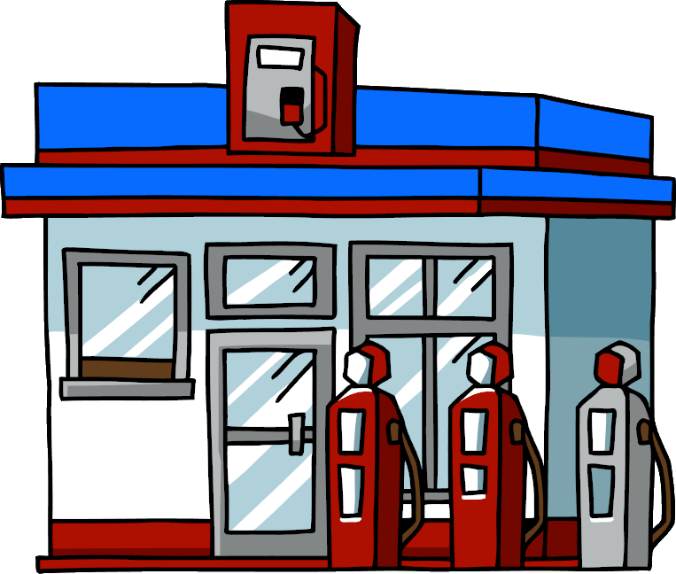763x648 Cartoon Clipart Gas Station