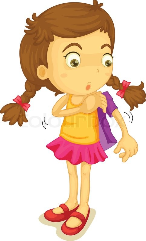 483x800 Girl Getting Dressed Stock Vector Colourbox