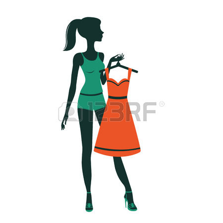 450x450 Clipart Girl Getting Dressed