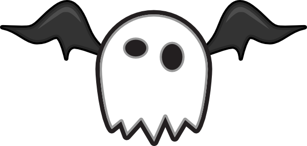 600x285 Cartoon Ghost Monster Clip Art
