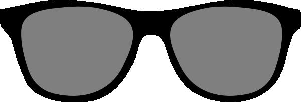 600x205 Glasses Clipart Big Black