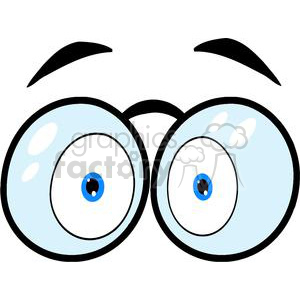 300x300 Royalty Free Cartoon Eyes With Glasses 381244 Vector Clip Art