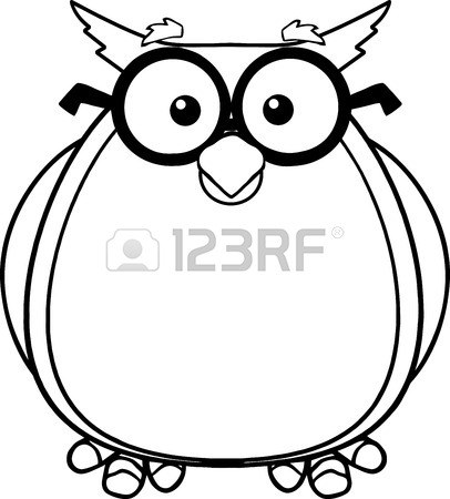 406x450 Wise Owl Teacher Cartoon Character With Glasses And Graduate