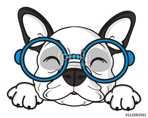 500x400 Glasses, Dog, French, Bulldog, Breed, Background, White, Isolated