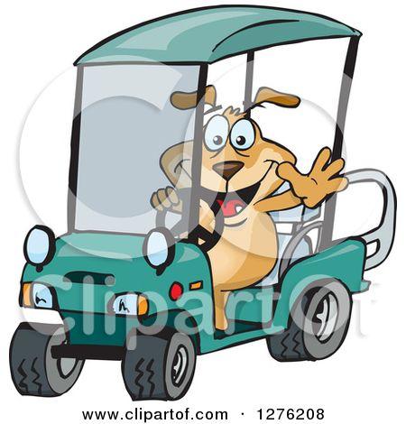 Cartoon Golf Cart Clipart