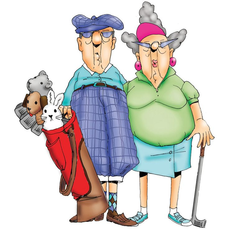 Cartoon Golfers Clipart