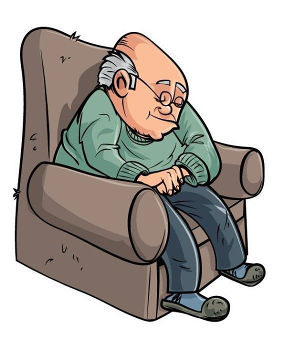 568x720 Sleeping Clipart Grandpa
