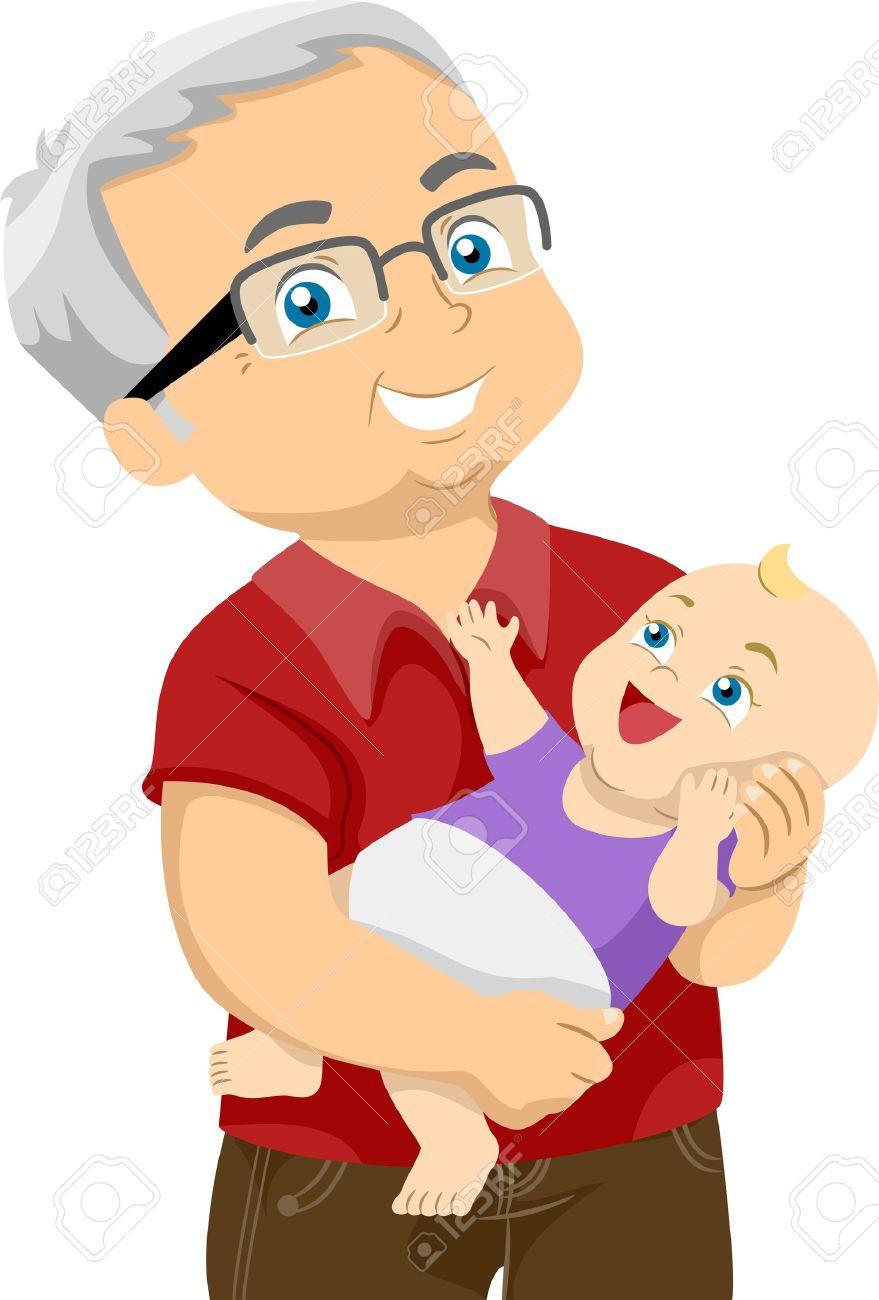 879x1300 Baby Clipart Grandpa